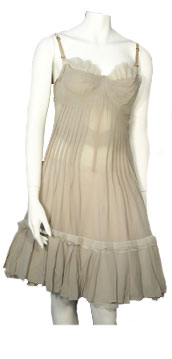 Angelos-Frentzos Dress with bustier and flounce on bottom