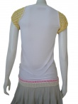 Clare Tough T-Shirt with handknitted short sleeves