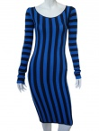 Jennifer Sindon Long striped dress