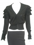 Angelos-Frentzos V-neck Cardigan with flounces