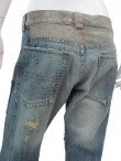 Jan & Carlos 5 pocket Pant with leather inlays