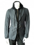 Angelos-Frentzos Jacket with knitted collar