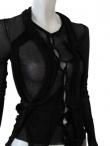 Angelos-Frentzos giacca girocollo con pliss