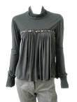 Angelos-Frentzos Highnecked tshirt with pleats