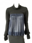 Angelos-Frentzos Pleated multicoloured polo neck t-shirt