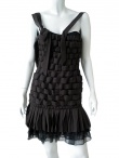 Angelos-Frentzos Pleated dress with embroidery