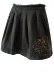 Norio Nakanishi Skirt with coal pearls