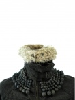Norio Nakanishi Coat with fur and necklace