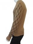Alberto Incanuti Rhombus V-neck Sweaeter