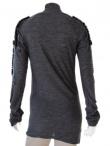 Angelos-Frentzos T-shirt m/l collo alto ricamo thunder