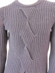 Giulio Bondi  Maxi Cable-knit Crewneck Sweater