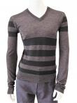 Giulio Bondi Striped V-neck Sweater