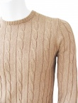 T-Shirt Cable-Knit Sweater
