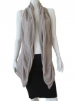 Delphine Wilson Sleeveless cardigan with scarf