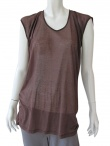 Delphine Wilson Ruched sleeveless t-shirt