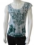 Vic-Torian Asymetric sleeve t-shirt