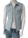 Vic-Torian Sleeveless jeans shirt