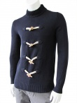 Giulio Bondi Turtleneck sweater with frogs