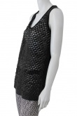 Nicolas & Mark Leather Scaled tank top