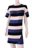 ONE CHOI Three Tone Stripes Dress