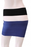 ONE CHOI Three Tone Stripes Skirt