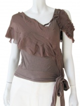 Angelos-Frentzos Frilled t-shirt with laces