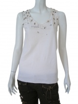 Norio Nakanishi Undershirt with lace on neck-line