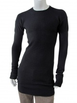 Rick Owens Knitted Pullover with patterned stitches