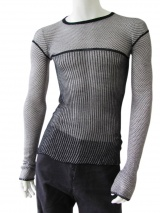 Rick Owens Honeycomb stitched t-shirt
