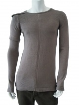 Rick Owens Roundnecked pullover with double sleeve