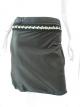 Clare Tough Leather skirt with elastic