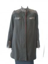 Norio Nakanishi Coat with leather insets
