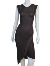 Nicolas & Mark Dress with ribbed inserts