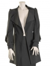 Angelos-Frentzos Trench with curled sleeves