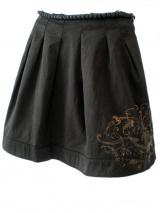 Norio Nakanishi Skirt with coal pearls