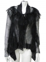 Angelos-Frentzos Jumper with lace waistcoat