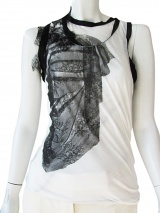 Angelos-Frentzos Draped halter with lace decoration
