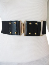 Angelos-Frentzos Belt elastic and leather