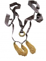 Angelos-Frentzos Necklace with ring and tassels