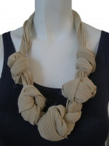 Once More Accordeon pleated necklace