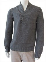 Nicolas & Mark Shawl Neck Sweater