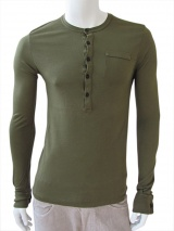 Nicolas & Mark Button Neck T-Shirt