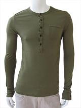 Nicolas & Mark Button Neck T-Shirt