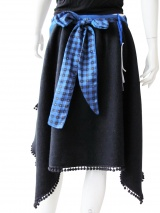 Silente Style 21: Gonna in lana e viscosa multisize