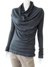 Delphine Wilson Shawl neck T-shirt