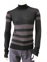 Giulio Bondi Turtleneck Striped Sweater