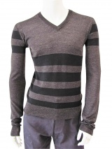 Giulio Bondi Striped V-neck Sweater