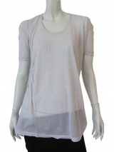 Delphine Wilson T-shirt with butterfly shoulder