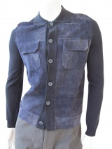 Giulio Bondi Jacket with leather panel