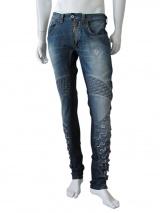 Vic-Torian Jeans sfrangiato con intreccio